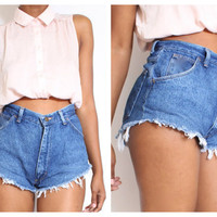 ALL SIZES Cut Off  CHEEKY  Vintage  High Waisted by ShopAudella