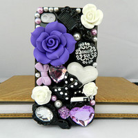 14 Color  Custom Handcraft  iPhone case iPhone 4 case iPhone 4s case iPhone cover Bling Crystal flower