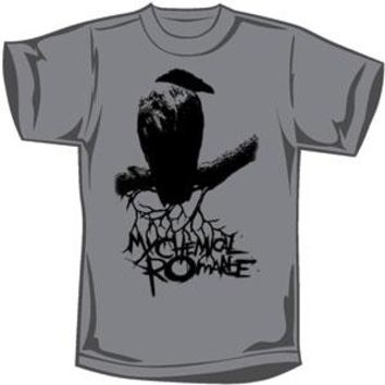 My Chemical Romance Men's  Raven T-shirt Grey