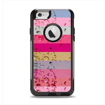 The Pink Water Stripes Apple iPhone 6 Otterbox Commuter Case Skin Set