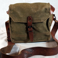 French Canvas Magazine Shoulder Bag