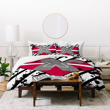 Amy Smith Red Heart Duvet Cover