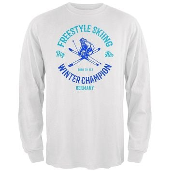Winter Games Freestyle Skiing Champion Germany Mens Long Sleeve T Shirt