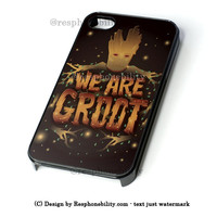 Guardian Of The Galaxy I Am Groot iPhone 4 4S 5 5S 5C 6 6 Plus , iPod 4 5  , Samsung Galaxy S3 S4 S5 Note 3 Note 4 , and HTC One X M7 M8 Case