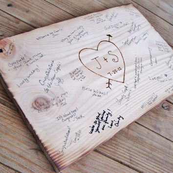 Best Wedding Guest Book Wood Sign Products on Wanelo