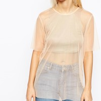 ASOS Sheer Mix Top