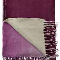 Padua Magenta Linen Throw Blanket