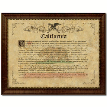 California Vintage History Flag Canvas Print, Picture Frame Gift Ideas Home Décor Wall Art Decoration