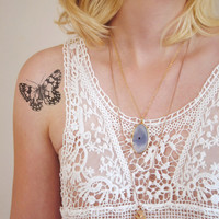 Vintage butterfly temporary tattoo