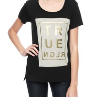 True Religion Relaxed Womens T-shirt - Black