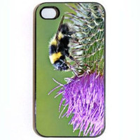 iPhone 4 4s Case Bumble Bee and Purple Flower comes by KustomCases