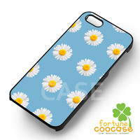 Daisy Flower On Blue -SK for iPhone 4/4S/5/5S/5C/6/ 6+,samsung S3/S4/S5/S6 Regular/S6 Edge,samsung note 3/4