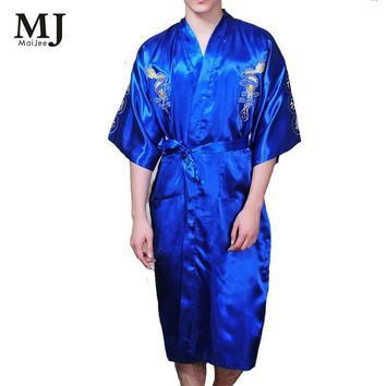 Japanese Kimono Men Bath Robe Dressing Gown Men Peignoir Homme Badjas Albornoz Hombre Men's Bathrobe For Men Kimono Bathrobes