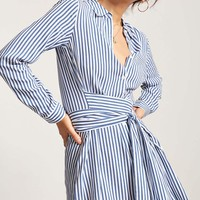 Stripe Mini Shirt Dress