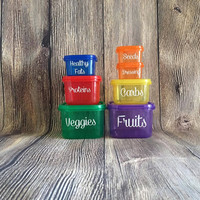 21 Day Fix Container With Labels // Portion Control Containers with Labels