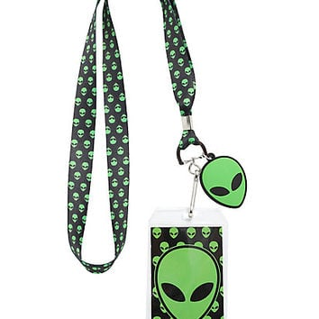 Green Alien Lanyard