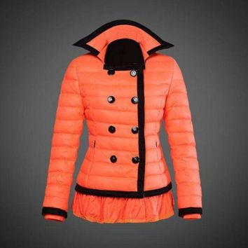 ONETOW Moncler reduced Dali low collar quilted down jacket for women Orange