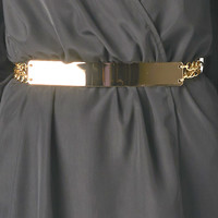 GOLD METAL CHAINED BELT