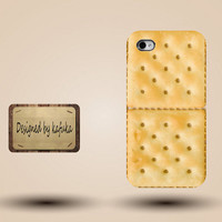 iphone case, i phone 4 4s 5 case,cool cute iphone4 iphone4s 5 case,stylish plastic rubber cases cover, yellow cookie  funny case p1008
