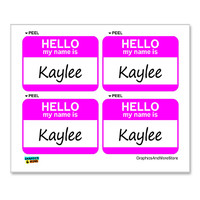 Kaylee Hello My Name Is - Sheet of 4 Stickers