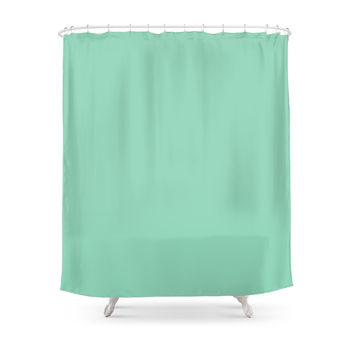 Society6 Mint Green Shower Curtains