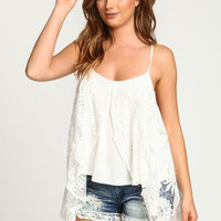 Floral Crochet Butterfly Top - LoveCulture
