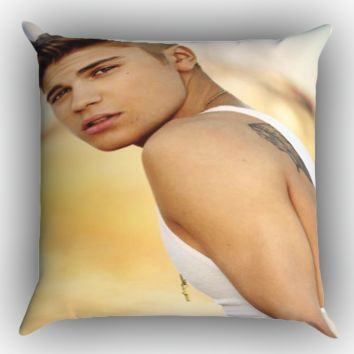 Justin Bieber WALLPAPER Y1446 Zippered Pillows  Covers 16x16, 18x18, 20x20 Inches