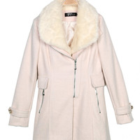 Zanzea Long Thick Wool Collar Long Sleeve Woolen Coat Jacket