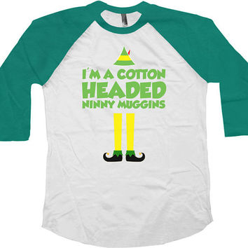 Funny Christmas Raglan Buddy The Elf T Shirt Christmas Gifts For Xmas Holiday Presents Movie Quotes Shirt Christmas Baseball Tee - SA458