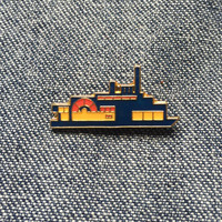 Vintage Enamel Lapel Pin or Hat Pin - steamboat boat pin