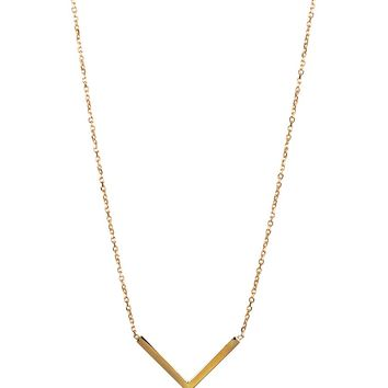 Adina Reyter Tiny V Necklace