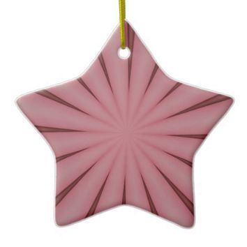 Elegant Antique Pink Kaleidoscope Design Ceramic Ornament