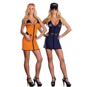 Dreamgirl Womens Double Trouble Halloween Party Cop/Prisoner Costume