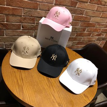 """New York Yankees"" Unisex Casual Fashion Letter Embroidery Baseball Cap Flat Cap Sun Hat"