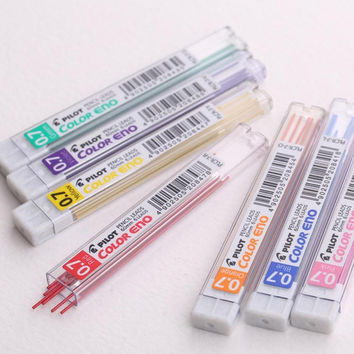 1 Tube 6Pcs Colorful Lead Refill Tube 0.7mm Case For Mechanical Pencil Student School & Office Supplies