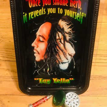 Bob Marley and The Lion of Judah Tobacco Rolling Tray