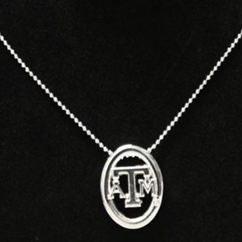 Texas A&M Aggies Oval Logo Necklace