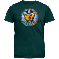 Embroidered Butterfly - Green T-Shirt