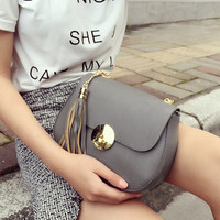 Retro Women Tassel Leather Shoulder Bag Female Fashion Casual Crossbody Messenger Bags Chic Handbag Gift 55