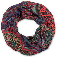 D&Y Purple & Multicolor Paisley Tribal Print Infinity Scarf
