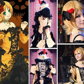 Rin Kagamine Daughter of Evil Dress, Servant of Evil Victorian Gothic Court Dress