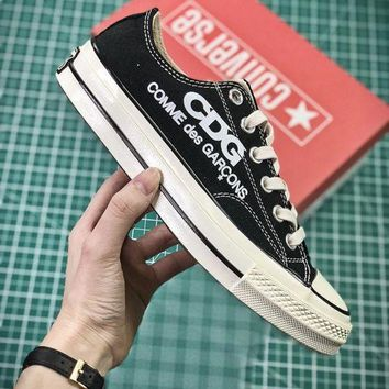 PEAP2Q COMME des GAR?ONS CDG x Converse Chuck Taylor All Star Black White Low Sneakers