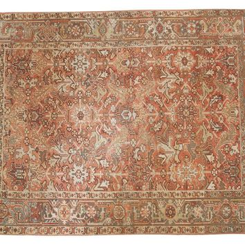 6x8 Vintage Distressed Heriz Carpet