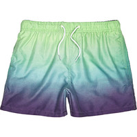 River Island MensAqua dip dye swim trunks