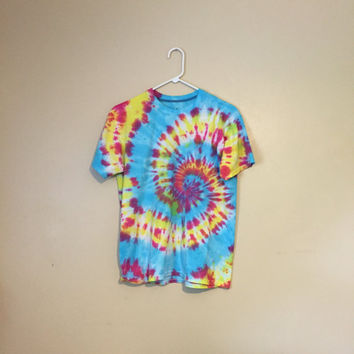 Bright Swirl Tie Dye T Shirt by altjoy on Etsy