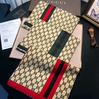 GUCCI Tide brand autumn and winter models long paragraph warm shawl collar
