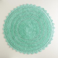 Sea Blue Round Bath Mat