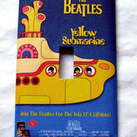 Light Switch Cover - Light Switch Plate  The Beatles Yellow Submarine
