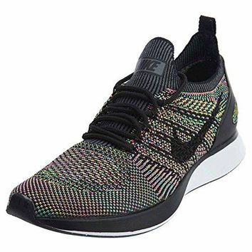 Nike Women Air Zoom Mariah Flyknit Racer (white / black-volt-chlorine blue)  white nike