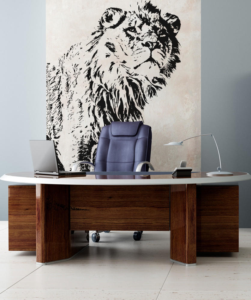 Vinyl wall decal sticker big lion from stickerbrand full size full size full size amipublicfo Gallery